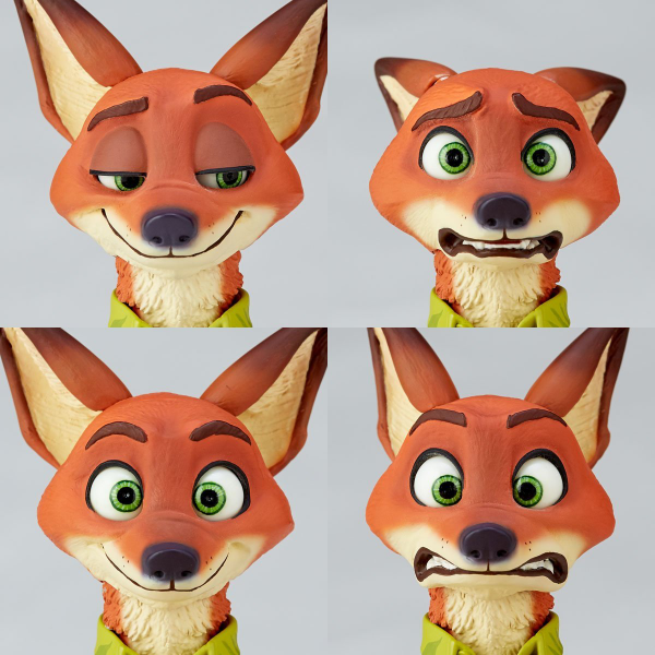 figure complex ムービー・リボ Nick Wilde ニック・ワイルド 表情一覧