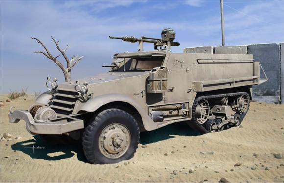 1/35 イスラエル国防軍 IDF M3ハーフトラック w/20mm イスパノ・スイザHS.404機関砲
