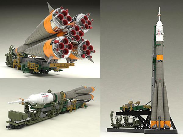 ]1/150 ソユーズロケット+搬送列車