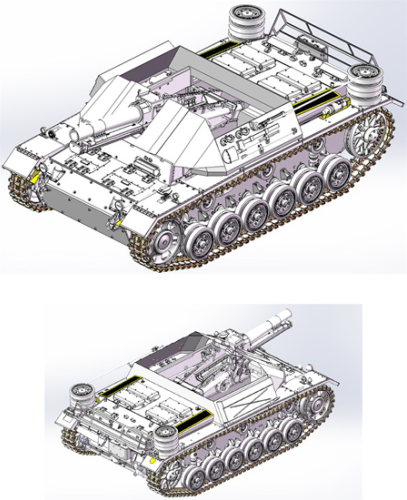 WW.II ドイツ軍 15cm 33式重歩兵砲搭載 自走砲 III号戦車H型車体