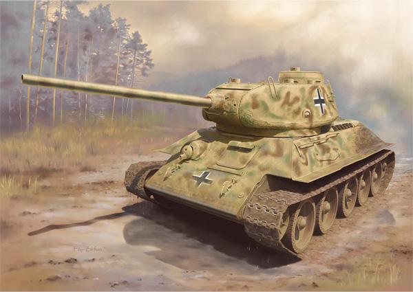 WW.II ドイツ軍 鹵獲戦車 T-34/85