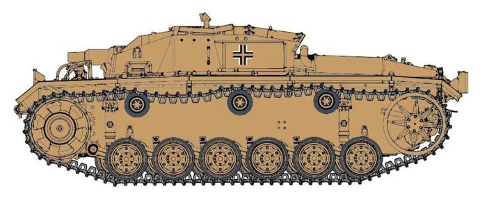 1/35 第二次世界大戦 ドイツ軍 3号突撃砲D型 熱帯地用 エアフィルター装備タイプ