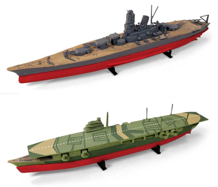 1/1200 WW.II 日本海軍 戦艦大和 & 航空母艦瑞鶴 (2艦セット)
