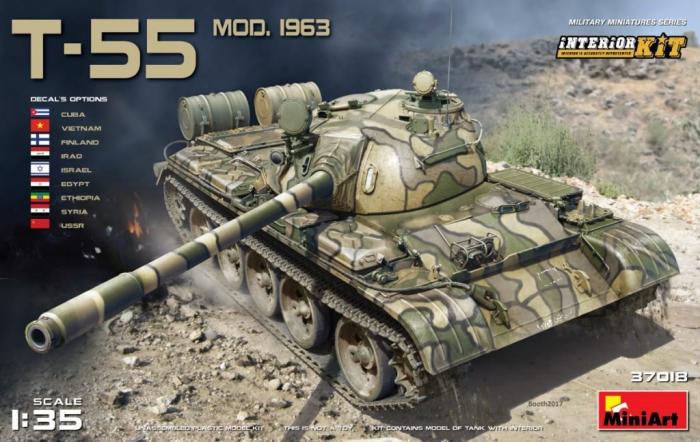 1/35 ソ連軍 T-55 MOD.1963 フルインテリア/内部再現