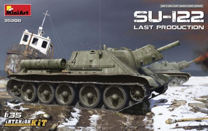 1/35 ソ連軍 Su-122後期型 フルインテリア/内部再現