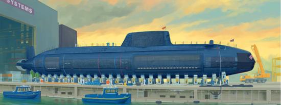 1/144 イギリス海軍 原子力潜水艦 HMS アスチュート