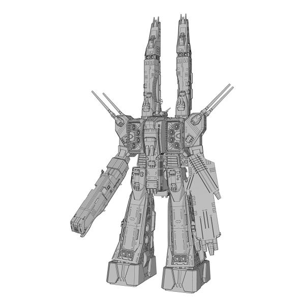 マクロスシリーズ SDF-1 マクロス艦 強攻型 w/ プロメテウス&ダイダロス 1/4000スケール