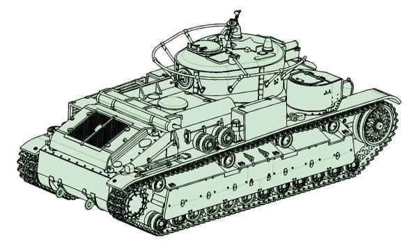 1/72 ソビエト軍 T-28多砲塔戦車 溶接仕様