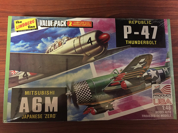 1/48 WW.II 日本海軍 A6M 零式艦上戦闘機 &アメリカ陸軍 P-47 サンダーボルト 2機セット