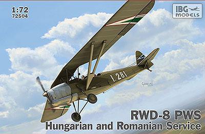 1/72 ポーランド 複座練習機RWD-8 ハンガリー&ルーマニア軍仕様