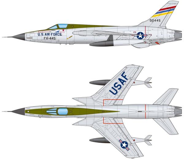 1/144 F-105D サンダーチーフ (2機セット)