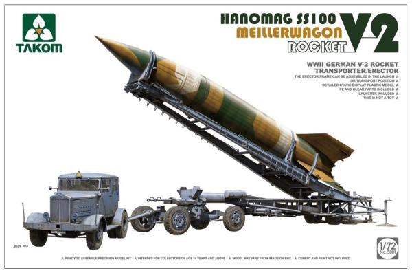 1/72 第二次世界大戦 ドイツ軍 V-2ロケット+メイラーワーゲン+ハノマーグ SS100 トラクター 3点セット
