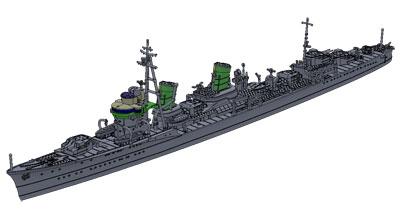 1/700艦艇模型シリーズ 特型駆逐艦II型 綾波