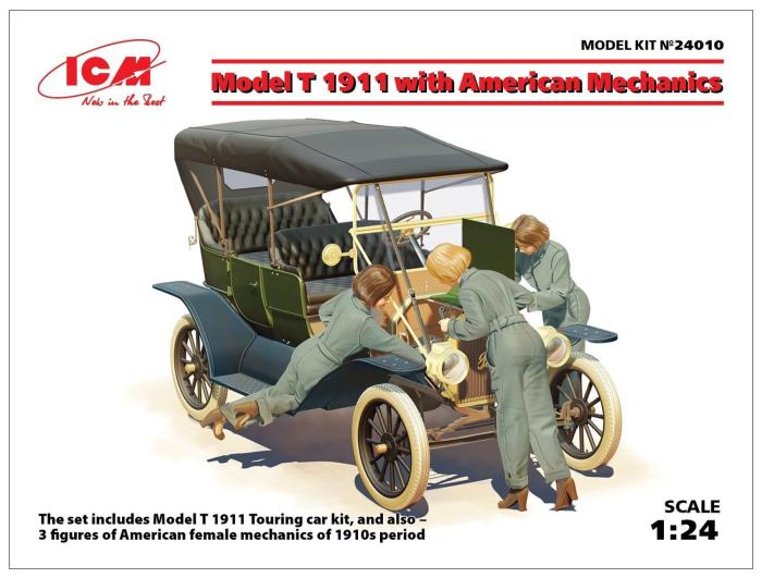 1/24 T型フォード 1911 w/アメリカ 女性整備士