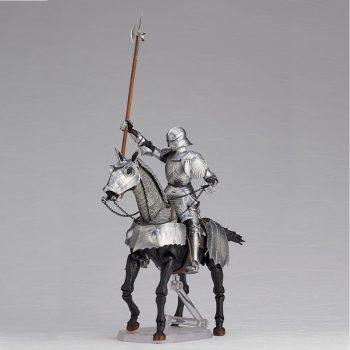 タケヤ式自在置物 KT-027 15世紀ゴチック式エクエストリアンアーマー シルバー