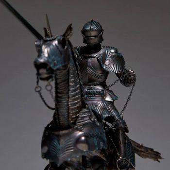 タケヤ式自在置物 KT-027 15世紀ゴチック式エクエストリアンアーマー ブロンズ